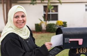 Muslim Woman Mail